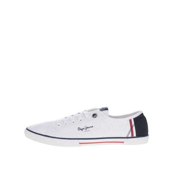 Pantofi sport alb&albastru Pepe Jeans Aberman Print