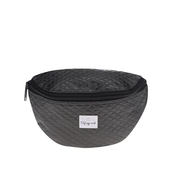 Borsetă matlasată gri închis unisex Spiral Quilted Black cu logo de la Spiral in categoria Rucsacuri, genți, portofele