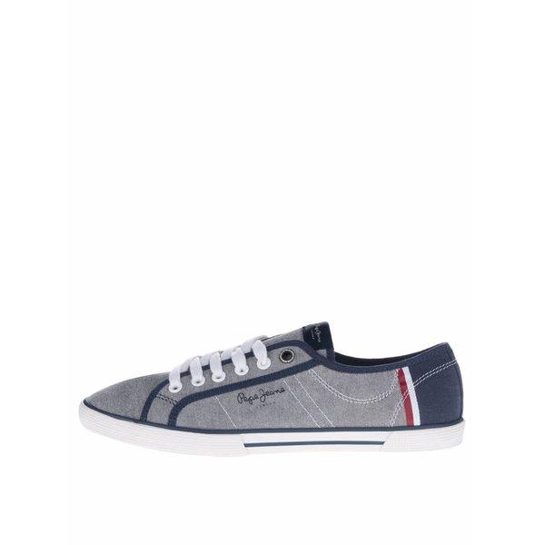 Pantofi sport gri&albastru Pepe Jeans Aberman Court