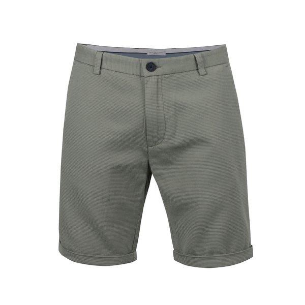 Pantaloni scurți verde camuflaj Selected Homme Brody