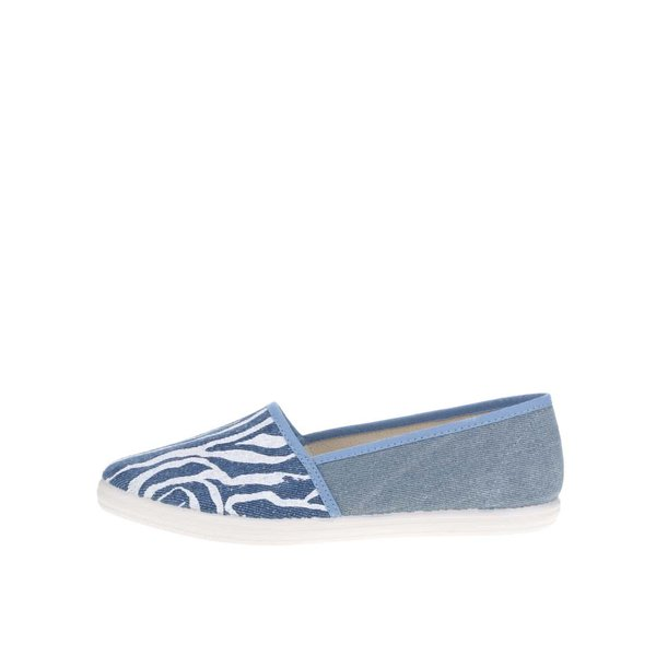 Pantofi loafer albastri cu print abstract - OJJU