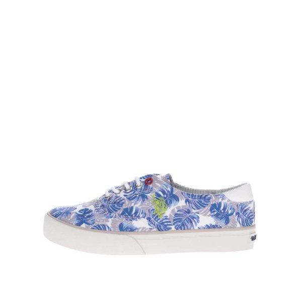 Pantofi sport crem&albastru U.S. Polo Assn. Ripley pentru femei de la U.S. Polo Assn. in categoria pantofi sport și teniși