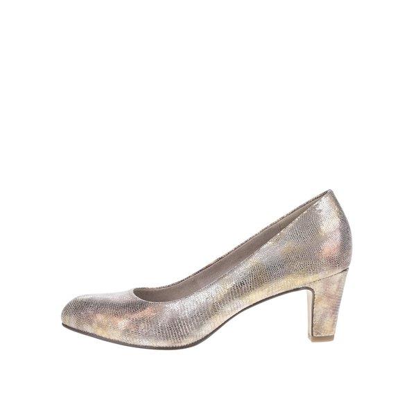 Pantofi argintii Tamaris cu toc de la Tamaris in categoria pantofi cu toc