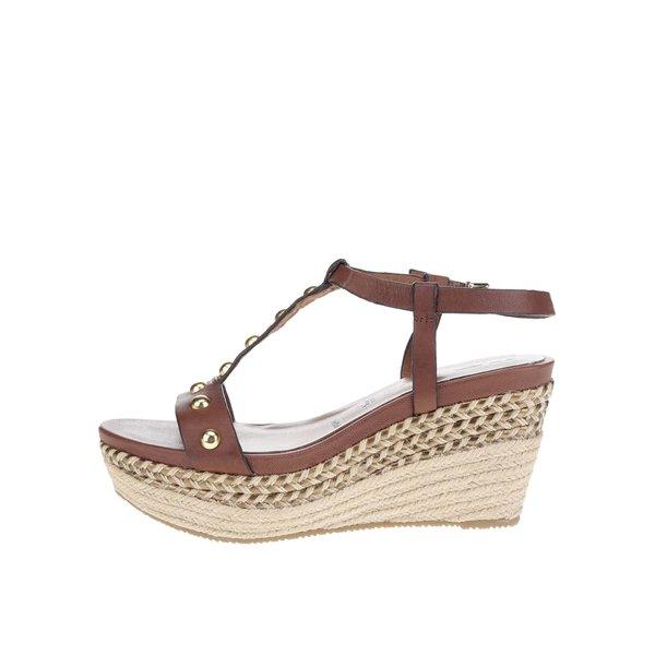 Sandale maro Tamaris din piele de la Tamaris in categoria pantofi cu platformă