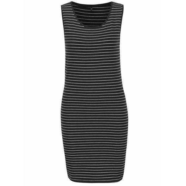 Rochie mulată neagră ONLY Cornelia cu model în dungi de la ONLY in categoria rochii casual