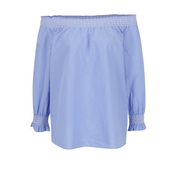 Bluză bleu ONLY Katy cu decolteu pe umeri de la ONLY in categoria Topuri, tricouri, body-uri