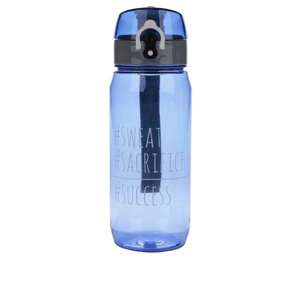 Sticlă pentru fitness albastră Loooqs Sweat cu sistem de blocare