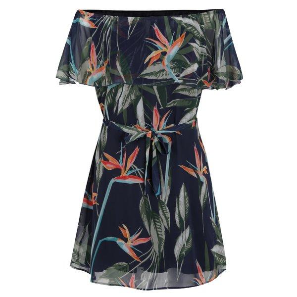 Rochie bleumarin ONLY Aura cu imprimeu tropical de la ONLY in categoria rochii casual