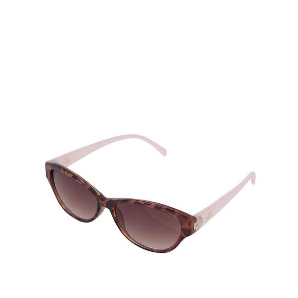 Ochelari de soare maro Gionni cu ramă roz și model