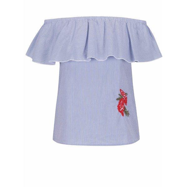 Top albastru deschis ONLY Rosanna cu dungi discrete de la ONLY in categoria Topuri, tricouri, body-uri