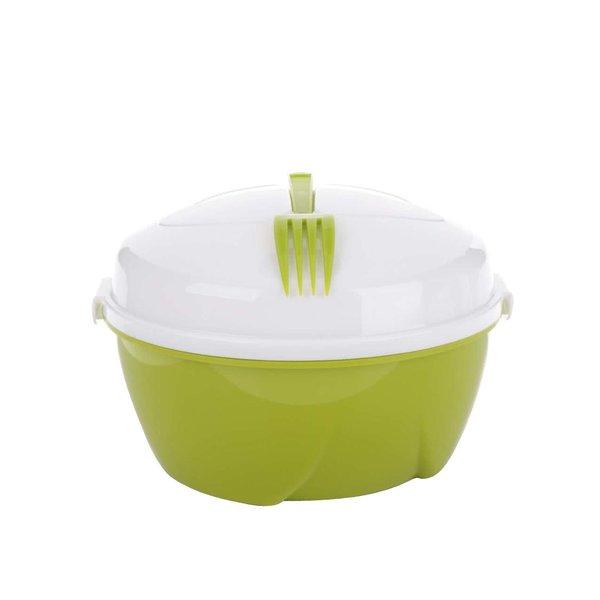 Caserolă pentru salată Loooqs cu furculiță