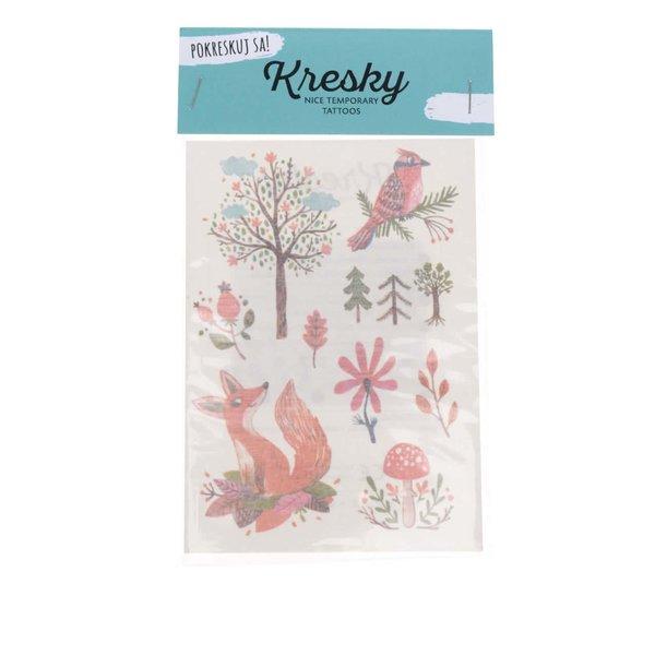 Set cu 11 tatuaje temporare Kresky multicolore de la Kresky in categoria Accesorii