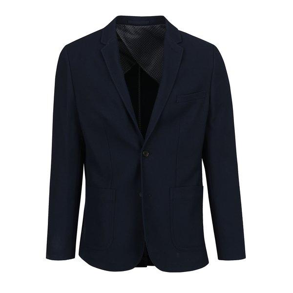 Sacou albastru închis Jack & Jones Premium Reprol cu guler cu revere de la Jack & Jones Premium in categoria Geci, paltoane, jachete