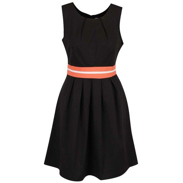 Rochie neagră Apricot cu detaliu portocaliu de la Apricot in categoria rochii casual