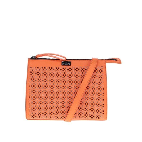 Geanta crossbody portocaliu neon cu perforatii Pauls Boutique Mia