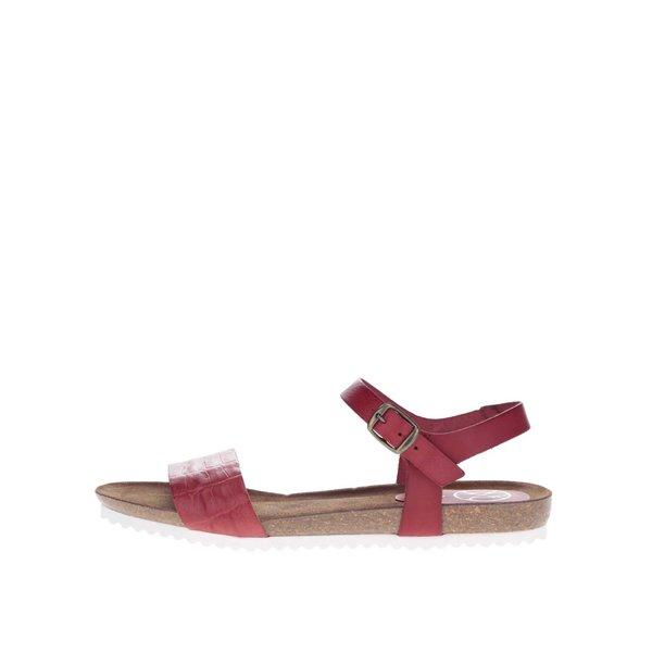 Sandale roșii OJJU din piele de la OJJU in categoria sandale