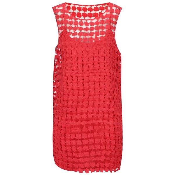 Rochie roșie VERO MODA Frace din dantelă de la VERO MODA in categoria rochii de vară și de plajă