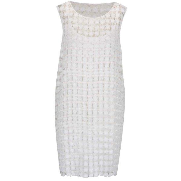 Rochie alb fildeș VERO MODA Frace din dantelă de la VERO MODA in categoria rochii de vară și de plajă