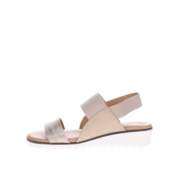 Sandale bej OJJU din piele de la OJJU in categoria sandale