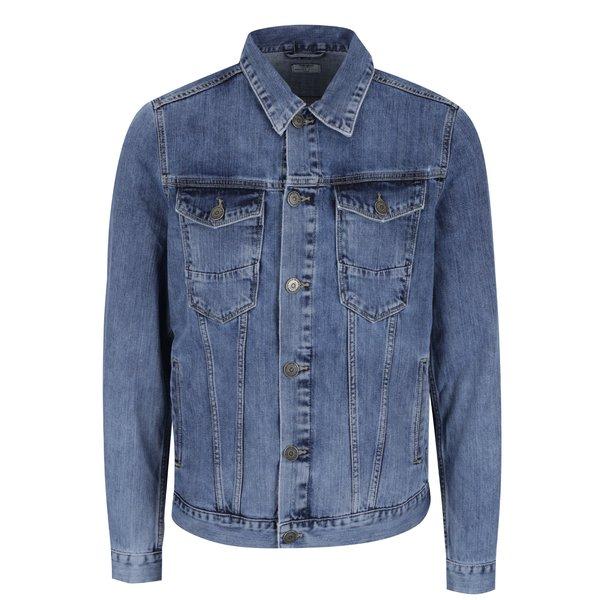 Jachetă albastră Cross Jeans din denim cu croi drept de la Cross Jeans in categoria Geci, paltoane, jachete