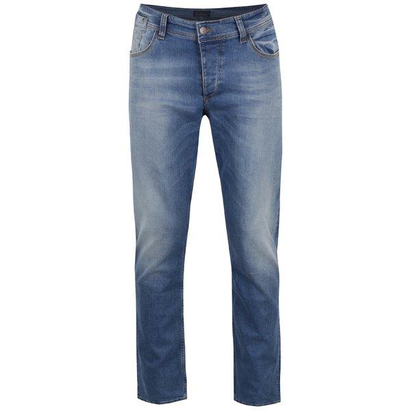 Blugi albaștri Cross Jeans Dylan cu aspect prespălat și croi drept