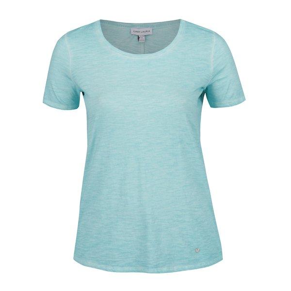 Tricou albastru Gina Laura din bumbac de la Gina Laura in categoria tricouri