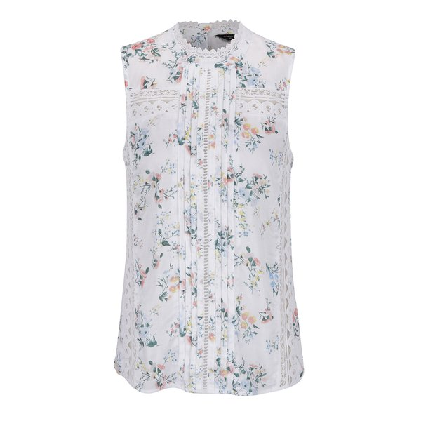 Top crem Dorothy Perkins cu imprimeu floral de la Dorothy Perkins in categoria Topuri, tricouri, body-uri