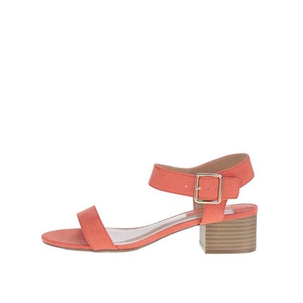 Sandale portocalii Dorothy Perkins cu toc cu aspect de lemn de la Dorothy Perkins in categoria pantofi cu toc