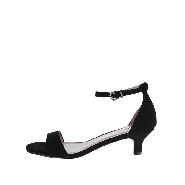 Sandale negre Dorothy Perkins cu aspect de piele întoarsă de la Dorothy Perkins in categoria pantofi cu toc