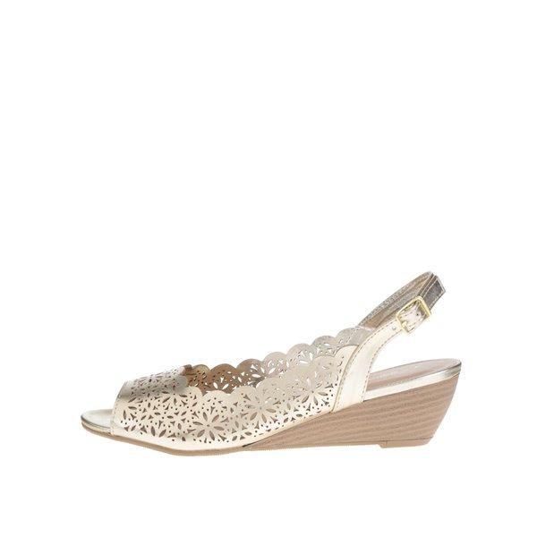 Sandale aurii Dorothy Perkins cu perforatii