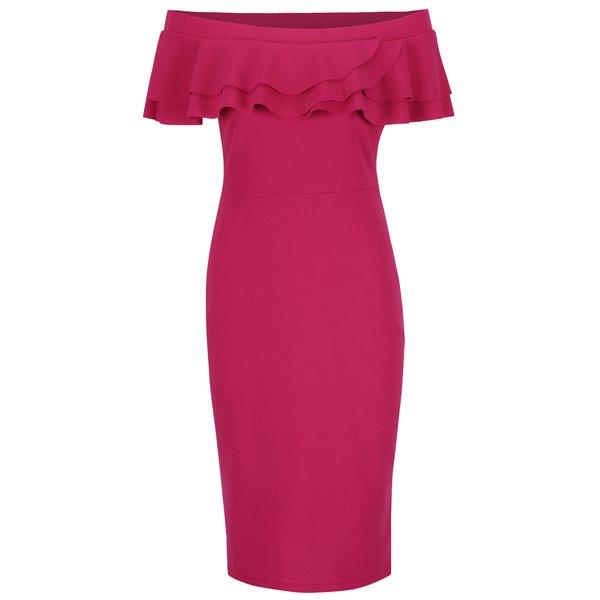 Rochie roz Dorothy Perkins cu decolteu pe umeri de la Dorothy Perkins in categoria rochii de seară