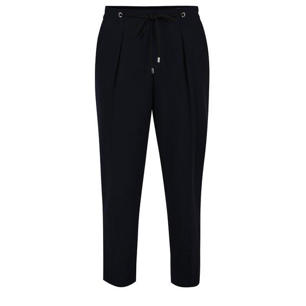 Pantaloni albastru închis Dorothy Perkins cu talie elastică