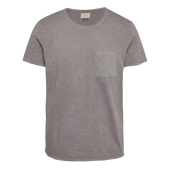 Tricou lila prăfuit Selected Homme Moon din bumbac cu buzunar la piept de la Selected Homme in categoria tricouri
