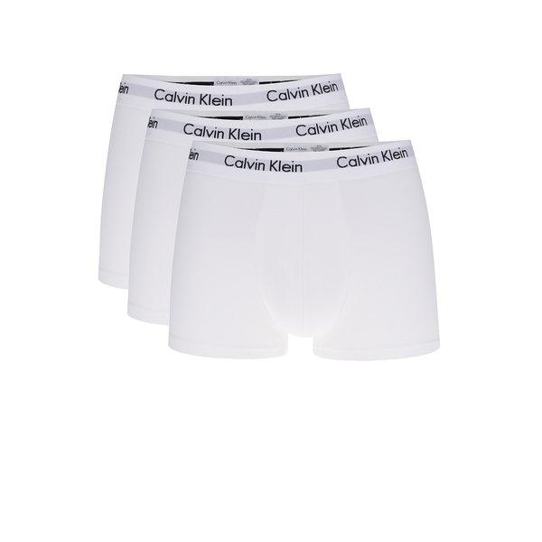 Set 3 boxeri albi cu print logo Calvin Klein de la Calvin Klein in categoria Lenjerie intimă, pijamale, șorturi de baie