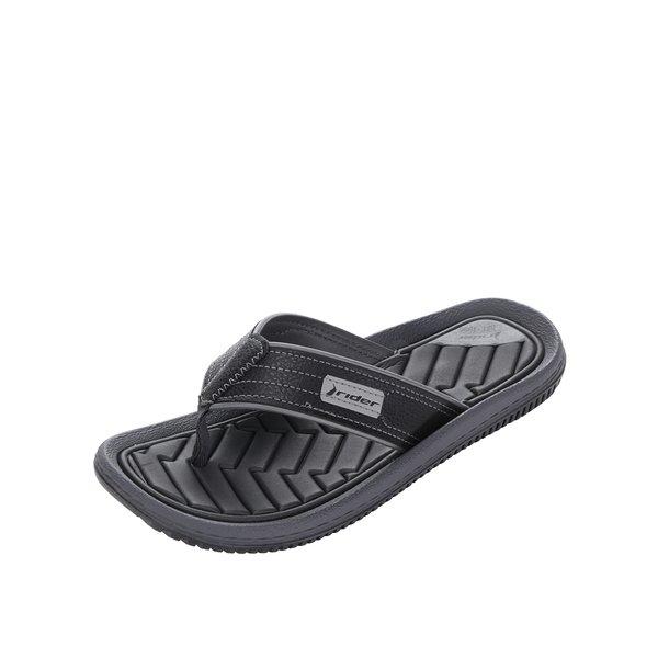 Șlapi negri Rider Dunas XIII personalizați cu logo de la Rider in categoria sandale și șlapi