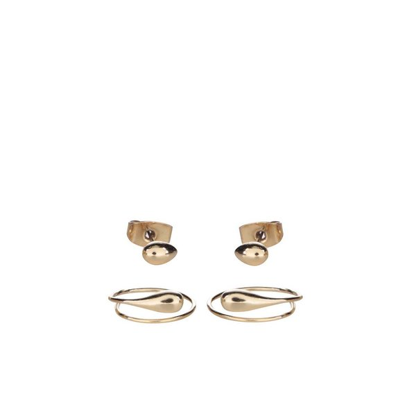 Set 2 perechi cercei aurii Pieces Katia de la Pieces in categoria Ceasuri și bijuterii