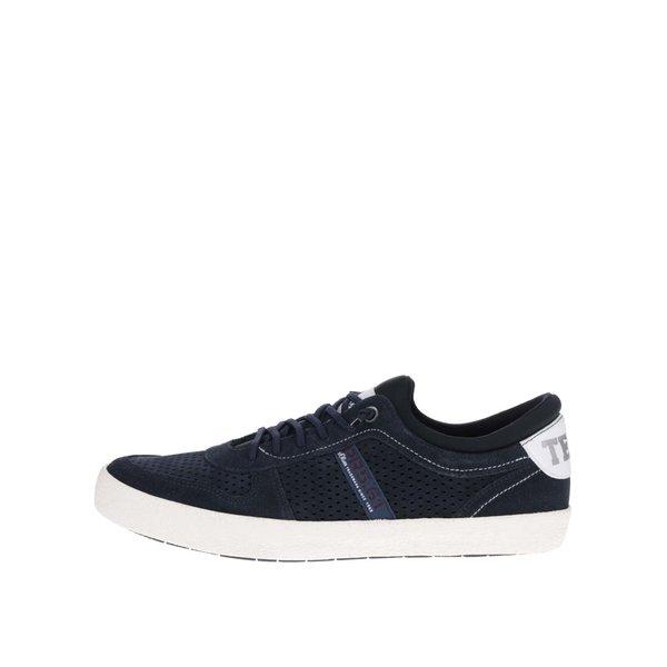 Pantofi sport albastru închis s.Oliver cu detalii din piele și model cu perforații de la s.Oliver in categoria pantofi sport și teniși