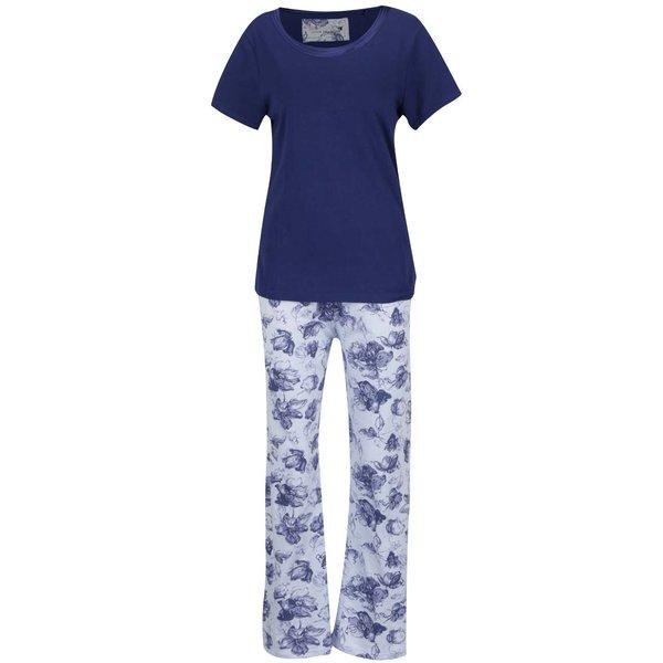 Pijama albastru & alb M&Co cu model floral de la M&Co in categoria Lenjerie intimă, pijamale, costume de baie