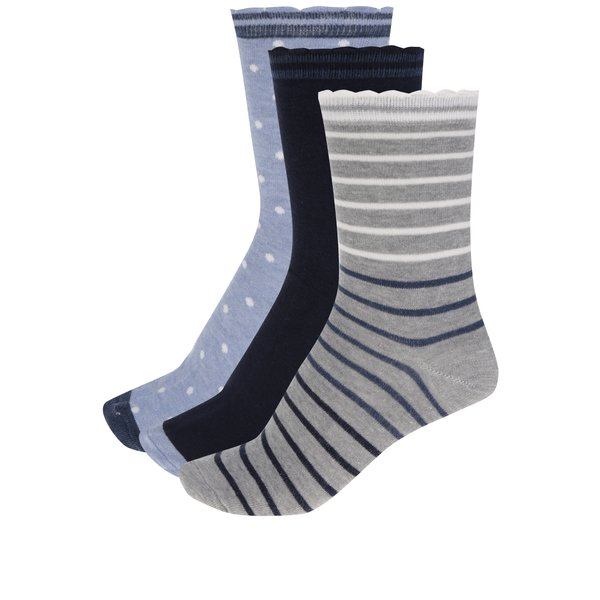 Set de 3 perechi de șosete albastru & gri M&Co cu model de la M&Co in categoria Dresuri si șosete