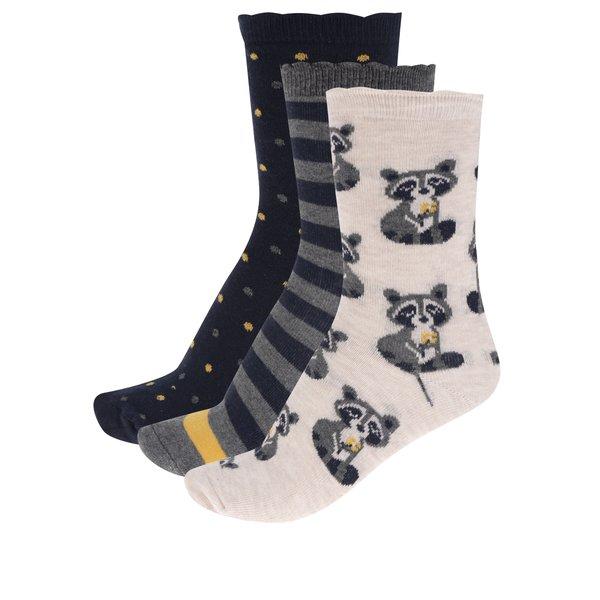 Set de 3 perechi de șosete albastru & bej M&Co cu model de la M&Co in categoria Dresuri si șosete