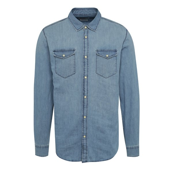 Cămașă albastră Jack & Jones One din denim de la Jack & Jones in categoria Cămăși