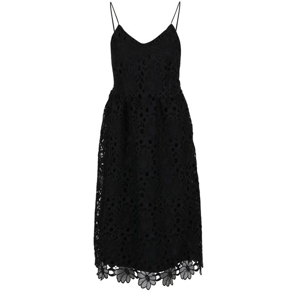 Rochie neagră VILA Dalton din dantelă spartă de la VILA in categoria rochii de seară