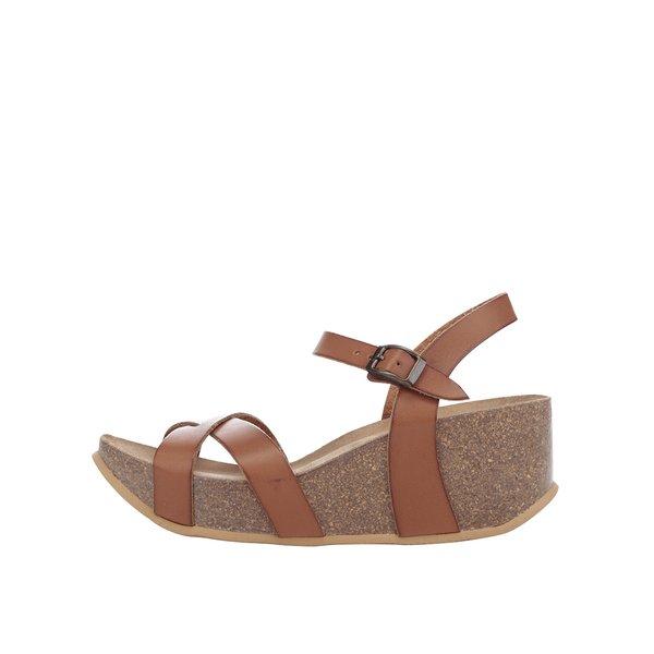 Sandale maro OJJU cu platformă de la OJJU in categoria sandale