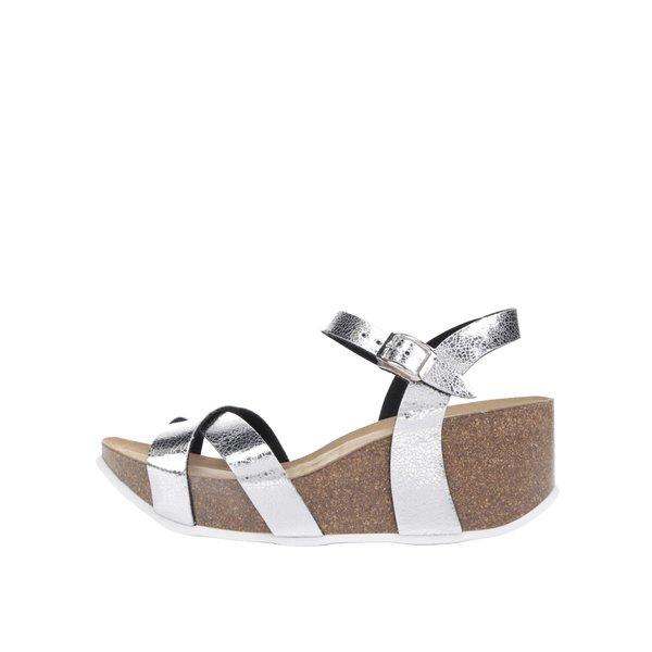 Sandale argintii OJJU cu platformă de la OJJU in categoria sandale