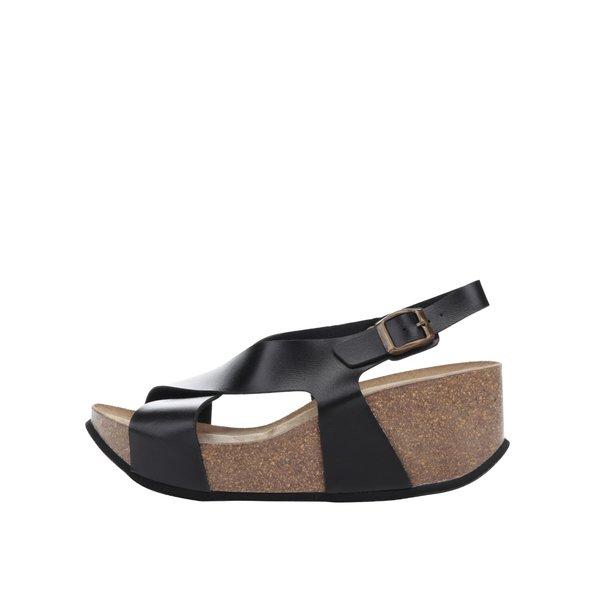 Sandale negre OJJU cu platformă de la OJJU in categoria sandale