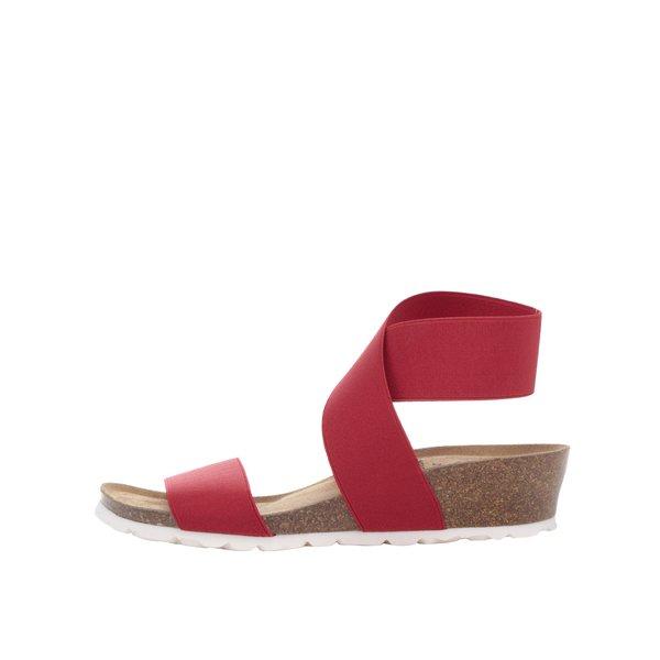 Sandale roșii OJJU cu barete elastice de la OJJU in categoria sandale
