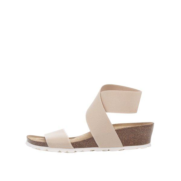 Sandale bej OJJU cu barete elastice de la OJJU in categoria sandale