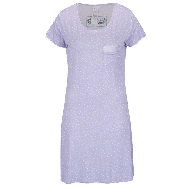 Cămașă de noapte violet deschis M&Co cu model cu buline de la M&Co in categoria Lenjerie intimă, pijamale, costume de baie