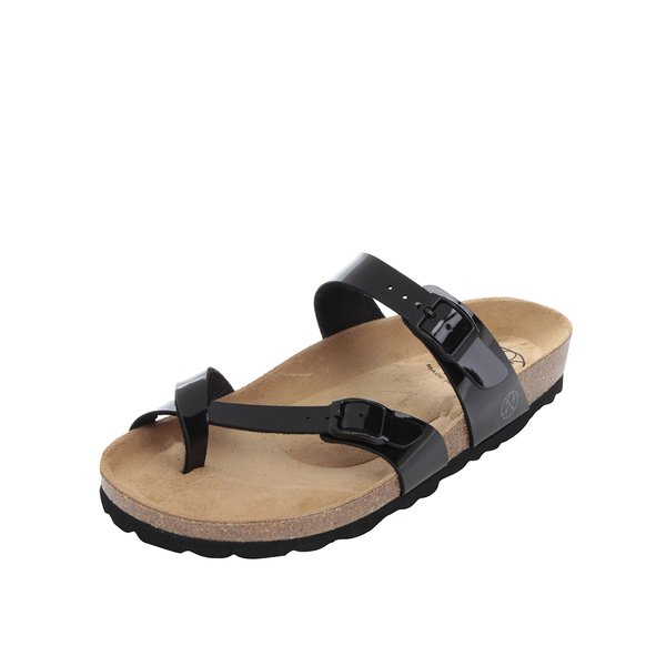 Papuci negri OJJU cu barete încrucișate de la OJJU in categoria sandale