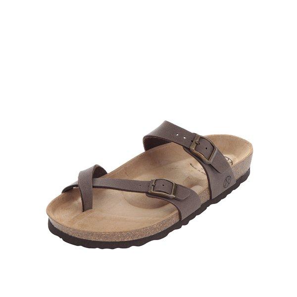 Papuci maro OJJU cu barete încrucișate de la OJJU in categoria sandale